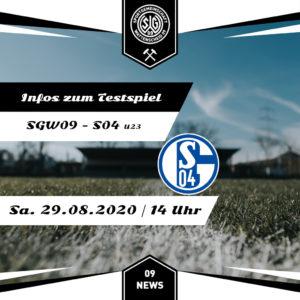 Grafik Testspiel Schalke U23