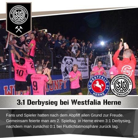 Derbysieg SG Wattenscheid Westfalia Herne